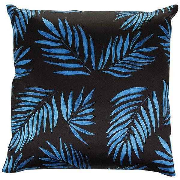 Mariska Meijers Palm Beach Blue Cushion - 40x50cm ($152) ❤ liked on Polyvore featuring home, home decor, throw pillows, pillow, blue, tropical home decor, blue home accessories, tropical throw pillows, blue toss pillows and blue throw pillows