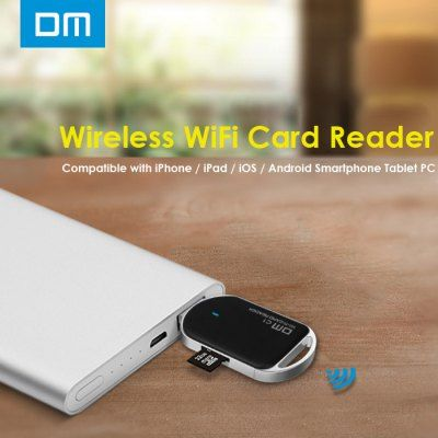Just US$12.59 + free shipping, buy DM C1 WFD011 Wireless WiFi Card Reader for Smartphones Tablet PC online shopping at GearBest.com.