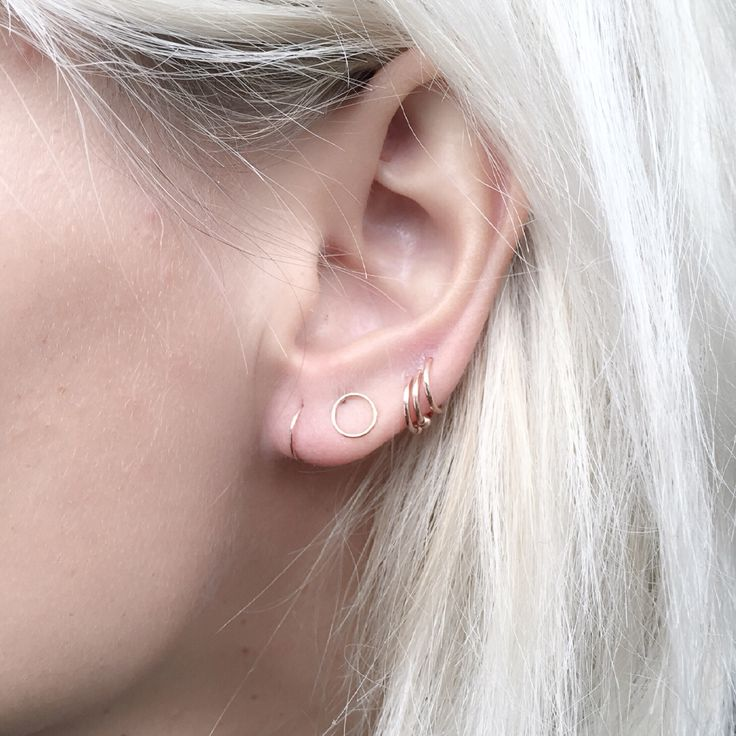 the incredibly delicate circle stud