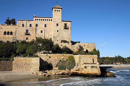 Tamarit Castle and beaches, Tarragona,  Costa Dorada, Spain