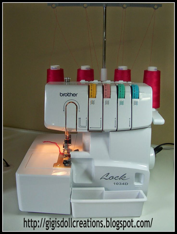List of tutorials for Brother 1034D Serger