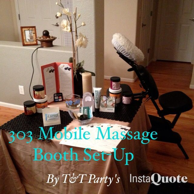 303 Mobile Massage Booth Fair Set Up Massage Marketing