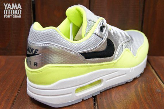 nike air max 1 fb premium metallic silver black volt 4 Nike Air Max 1 ...