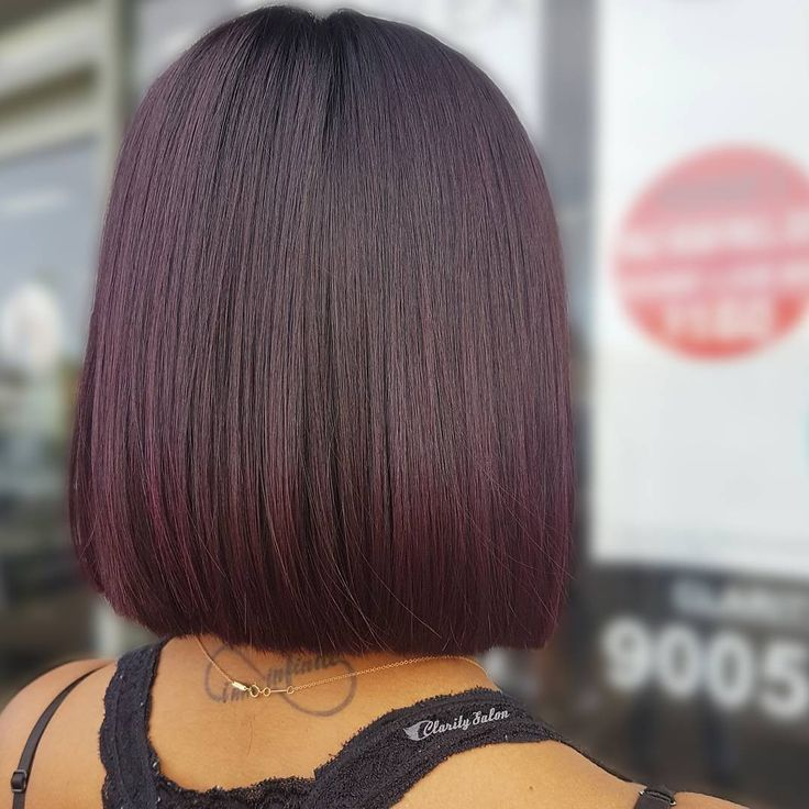 Deep Plum Haircolor Hair Styles Pinterest Of Plum Hair ...