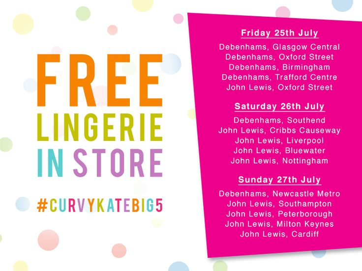 We're giving away free briefs in stores and on Twitter all weekend to celebrate our 5th birthday! #CurvyKateBig5 http://curvykatebig5.com/