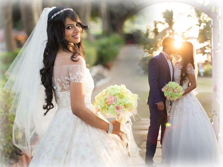Avrilann looks breathtakingly beautiful in our off shoulder Daffodil wedding gown with sparkle veil.  Image Courtesy - Rahul de Cunha #Karleo #KarleoFashion #KarleoBridal