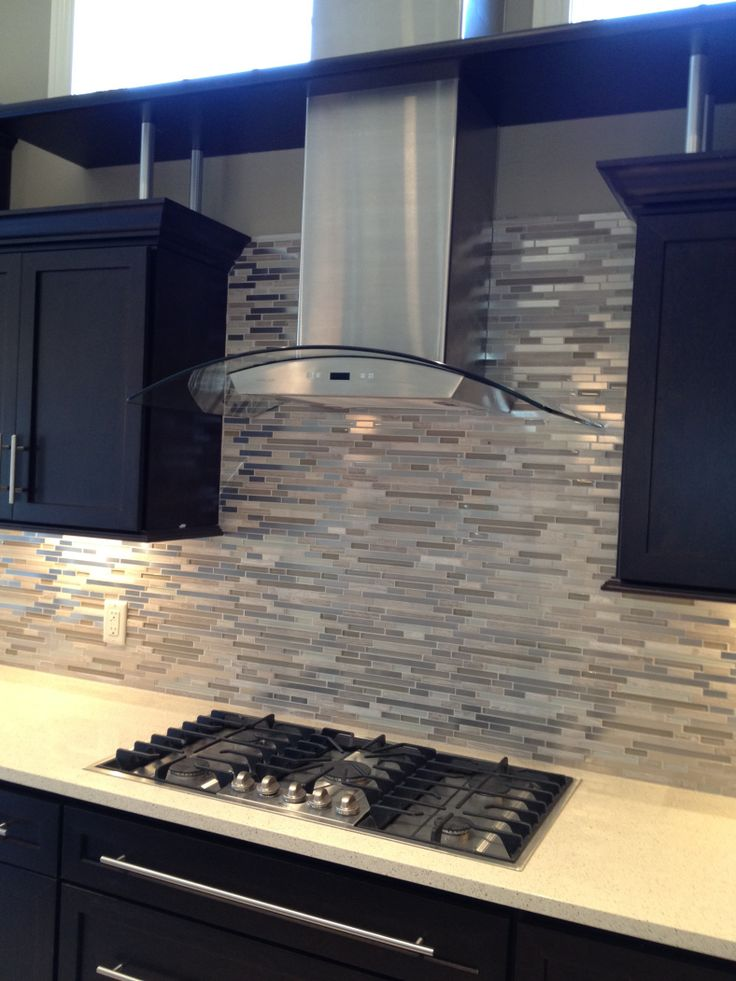 Design elements creating style through kitchen for Kitchen designs with glass tile backsplash