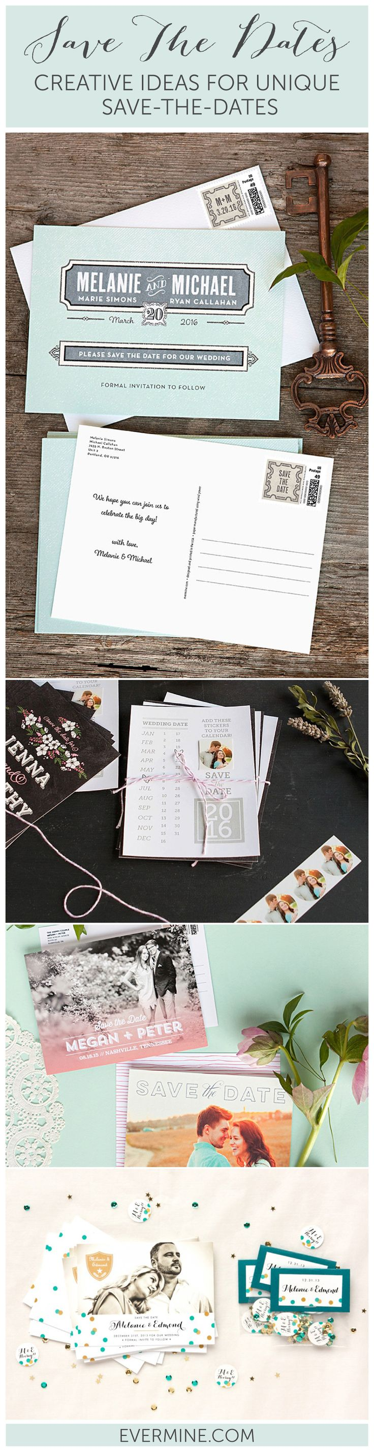 Creative Ideas for Unique Save The Dates Save