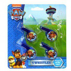 Paw Patrol Whistles (4 Pack)  https://www.discountpartysupplies.com/boy-party-supplies/paw-patrol-party-supplies