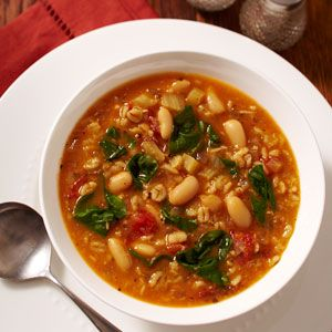 This hearty bean and barley soup tastes like it has simmered for hours but it's actually quite quick to throw together and freezes beautifully. http://blog.preventcancer.org/2013/healthy-recipe-bean-barley-soup/