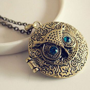 Blue Eye Owl Round Phase Box Opening Locket Necklace //Price: $ 8.99 & FREE Shipping //     #jewelry #jewels #jewel #fashion #gems #gem #gemstone #bling #stones   #stone #trendy #accessories #love #crystals #beautiful #ootd #style #accessory   #stylish #cute #fashionjewelry  #bracelets #bracelet #armcandy #armswag #wristgame #pretty #love #beautiful   #braceletstacks #earrings #earring