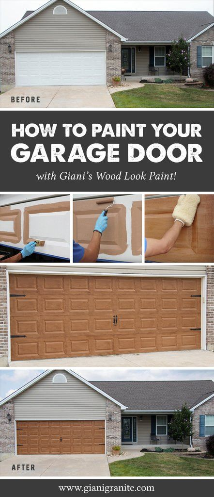 Best 25 painted garage doors ideas on pinterest wood for How to paint a garage door to look like wood