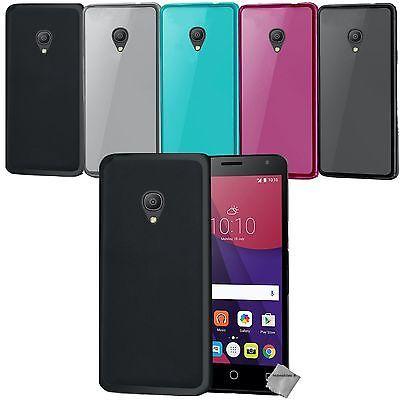 Housse etui coque gel fine pour Alcatel One Touch Pixi 4 3G (5.0) + film ecran