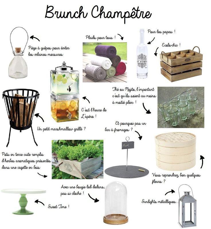 D coration champ tre brunch bucolique recherche for Mariage champetre decoration
