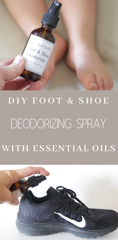 Diy foot shoe deodorizer spray essential oils for