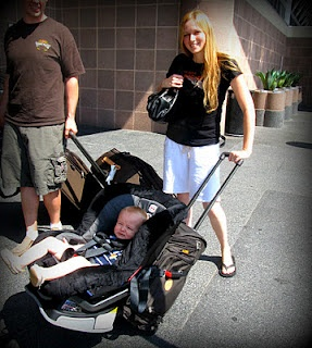 "Carseat + Rolling Carry-on = Airport Stroller  Thanks To ""Traveling Toddler!"" This Product Will Make Traveling With A Toddler SO Much Easier."