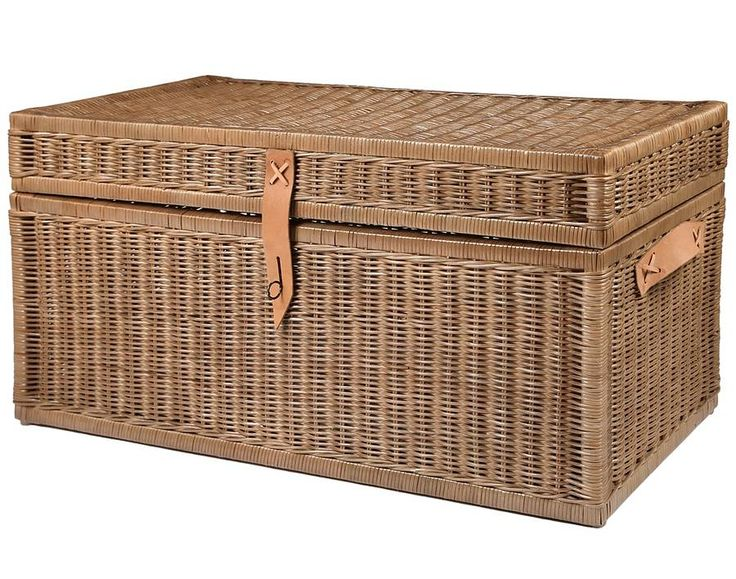 Wicker Storage Trunk