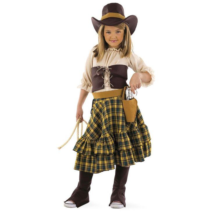 Disfraz de vaquera del oeste para niña | Comprar