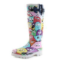 Womens Rubber Wellington Multi Coloured Blob Fun Wellington Wellies Boot Sz Size