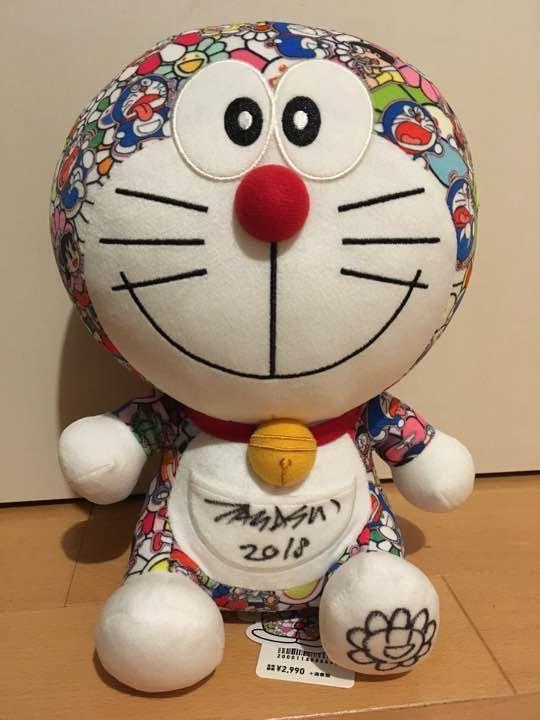 takashi murakami autographed doraemon plush doll ut uniqlo limited art number dolls