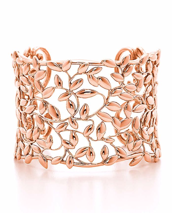 Rose gold cuff by Tiffany & Co.