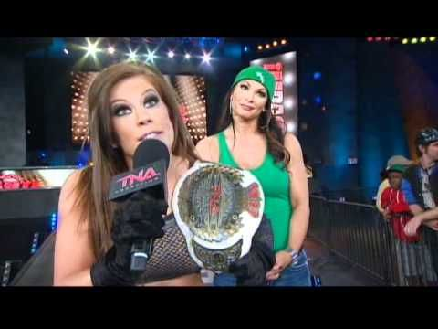 Madison Rayne and Mickie James - Title vs. Hair at Lockdown