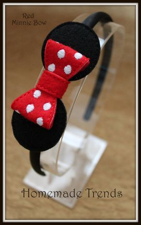 Mouse Headband-Polka Dot Mouse Bow-Mouse Hair by HomemadeTrends