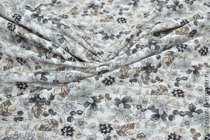 Блузочная ткань в цветочек арт. 12-003-2038 Ширина: 151 см, плотность: 125г/м2 Состав ткани: 89%хл 5%ПА 4%эластан 2%люрекс #хлопок#эластан#цветы#цветочки#tutti-tessuti