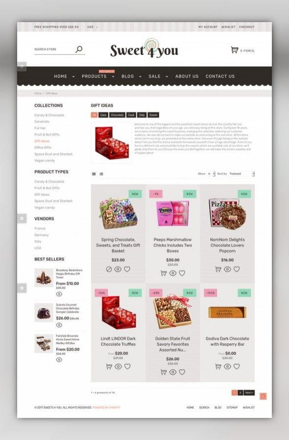 Sweet Shop Responsive Shopify Theme E-commerce Templates, Shopify Themes,  Food & Restaurant