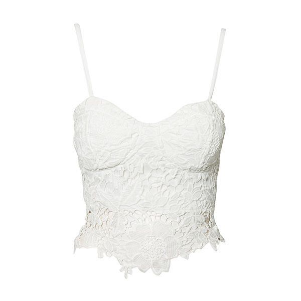 Bustier Lace Top Oneness ❤ liked on Polyvore featuring tops, shirts, crop tops, tank tops, white bustier, lace bustier, white top, lace shirt and bustier ❤ Pinned by Cindy Vermeulen. Please check out my other 'sexy' boards. X