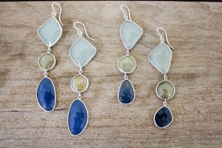 Our new ocean hue sapphire earrings
