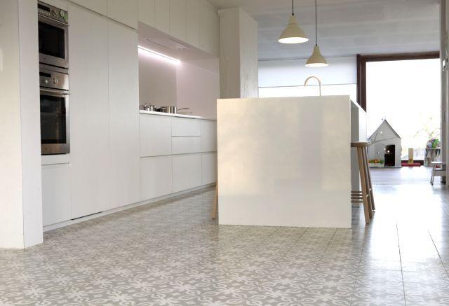 Cement tiles - Project De Coninck - Kitchen