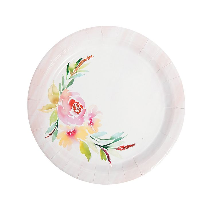 $2.49 per set of 8 plates | Floral Party, Bridal Shower, Garden Party