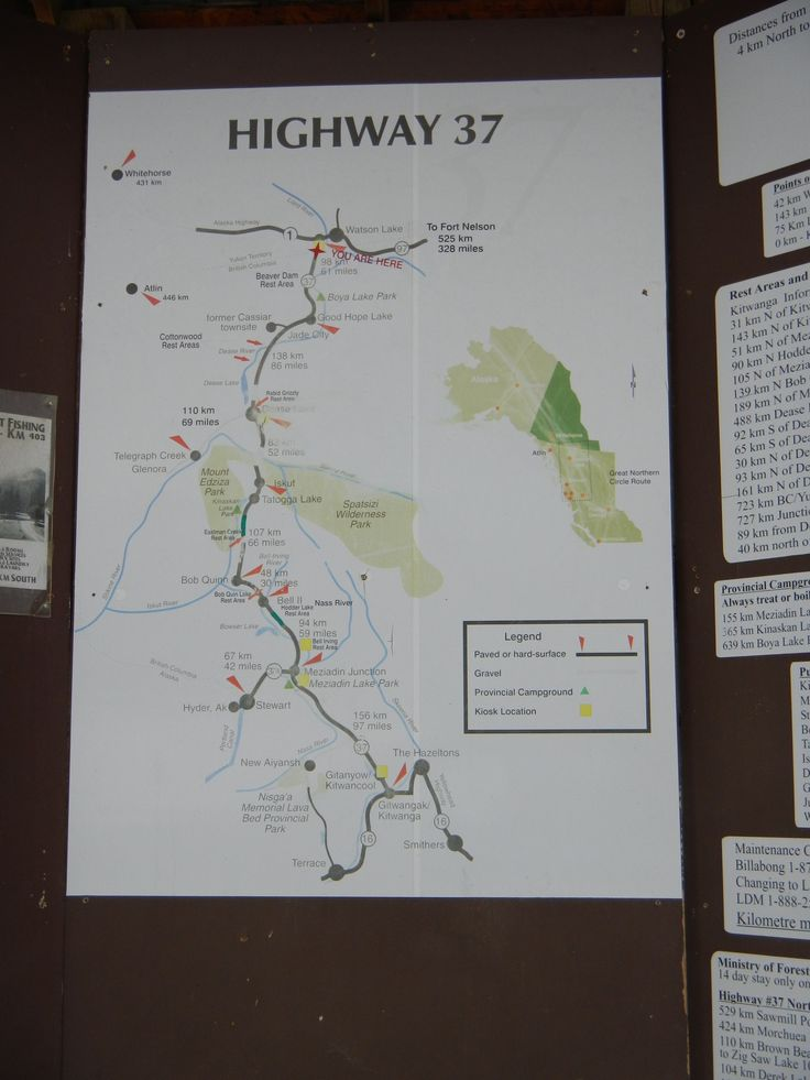 Cassiar Highway Map The Journey South To The States