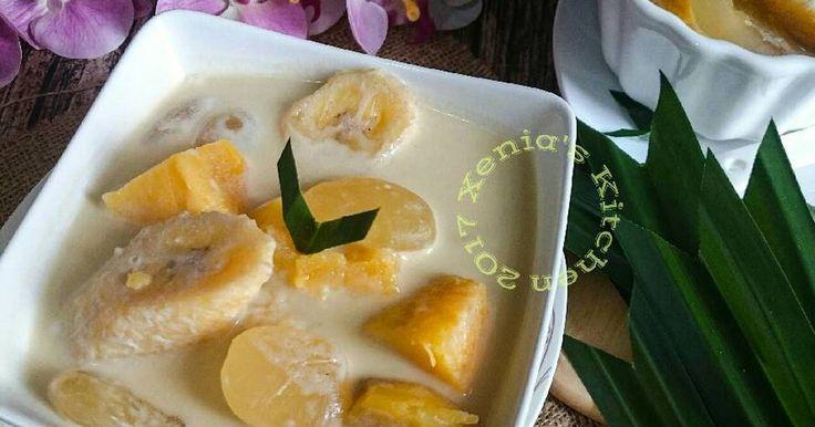 "Resep Kolak Pisang Waluh Kolang Kaling favorit. Sajian utk para tamu selain brownies Keju,krna cuacanya jg lagi hujan seharian... Dingin"" enak nyantap yg anget"" 😋😋"
