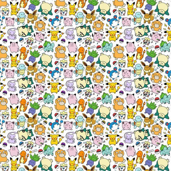 Cute Pokémon Doodle  Art Print