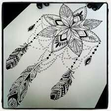 Mandala dream catcher tattoo                                                                                                                                                                                 More