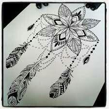 Mandala dream catcher tattoo                                                                                                                                                                                 More