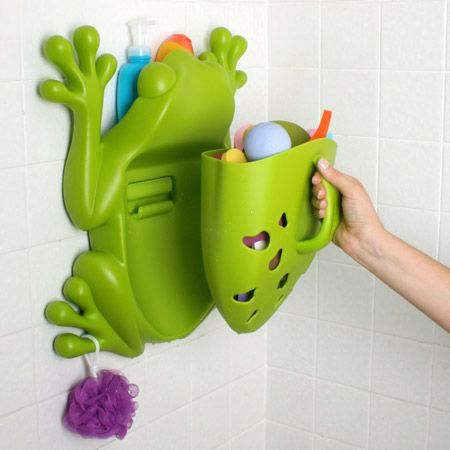 Cool And Funny Bath Toy Storage Containers âu20acu201c Frog Pod And Bug Pod From