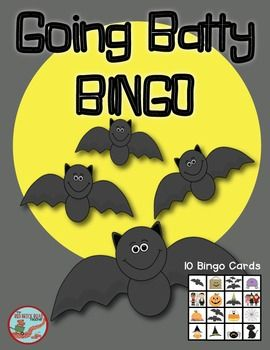 halloween going batty bingo small group gamessmall - Halloween Games For Groups