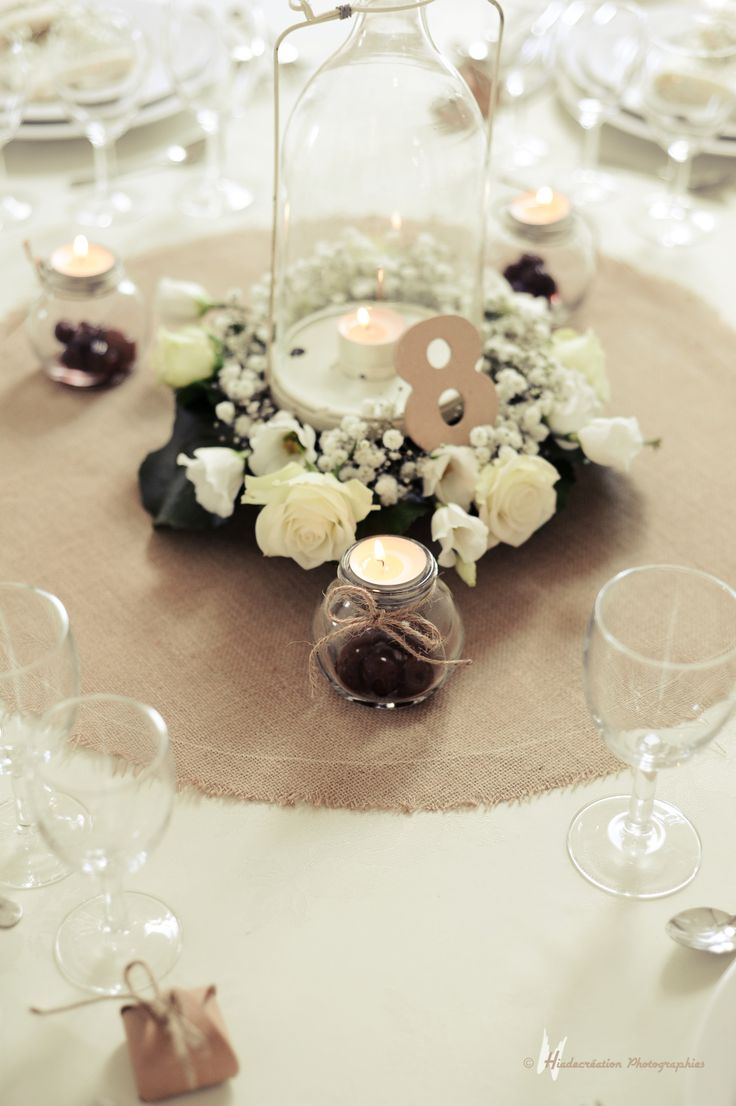 Best 25 chemin de table mariage ideas on pinterest - Deco table blanc ...