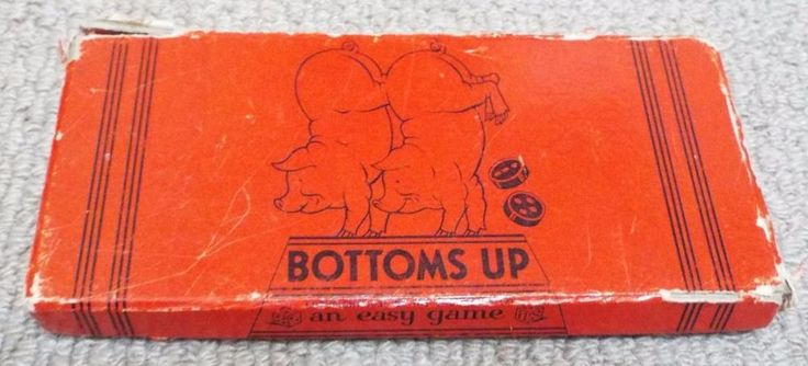 Bottoms Up - Vintage 1930's Easy Dice Game - The Embossing Company