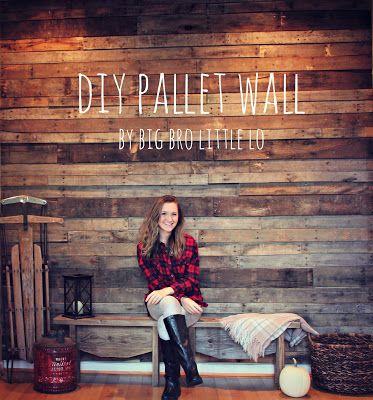 $35 DIY Pallet Wall!