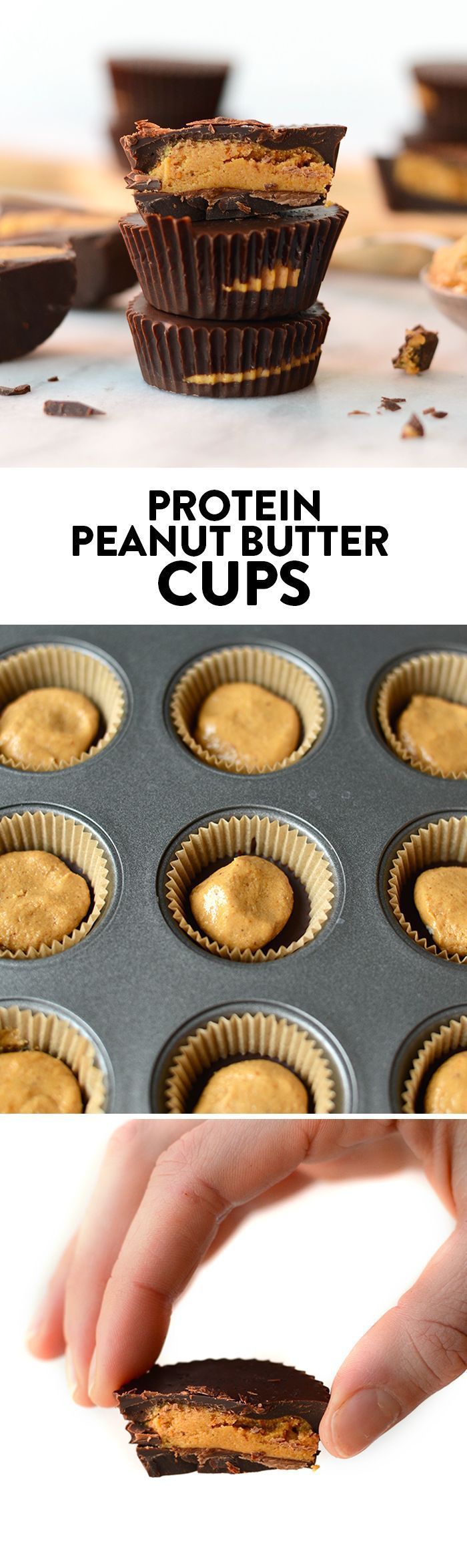 What's better than a peanut butter cup? A peanut butter cup amped with extra protein! Make these delicious protein p