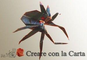 Un bel ragno origami per la festa di Halloween!