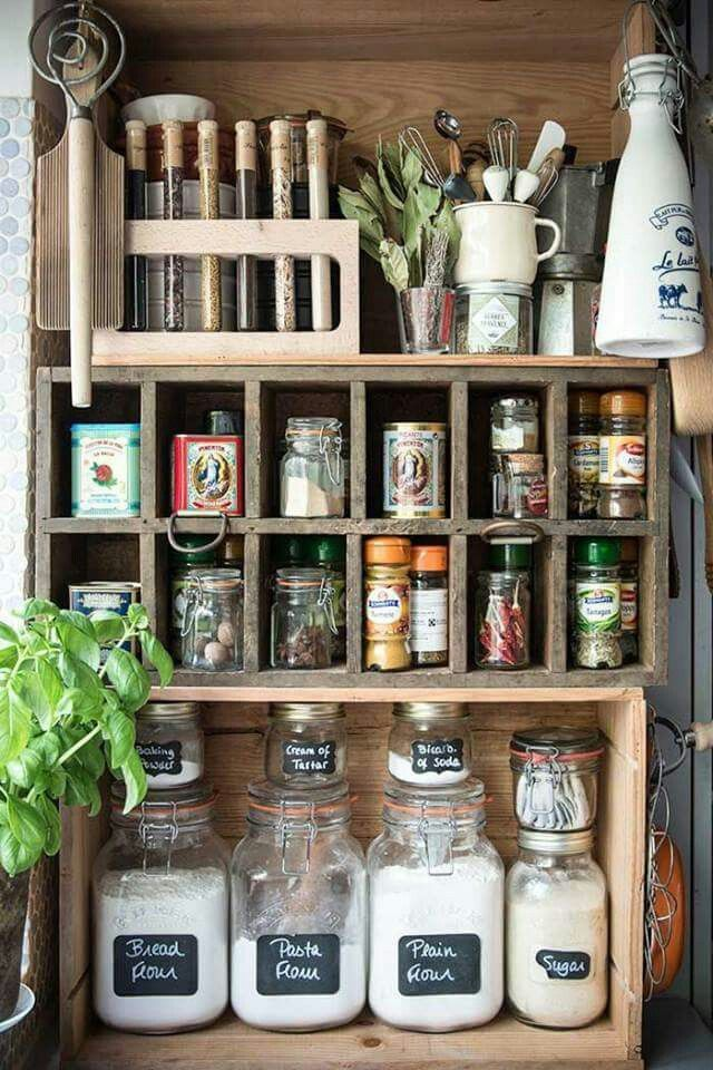 The most beautiful pantry organization