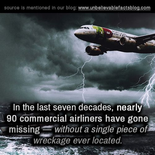 In the last seven decades, nearly 90 commercial airliners have gone missing — without a single piece of wreckage ever located.