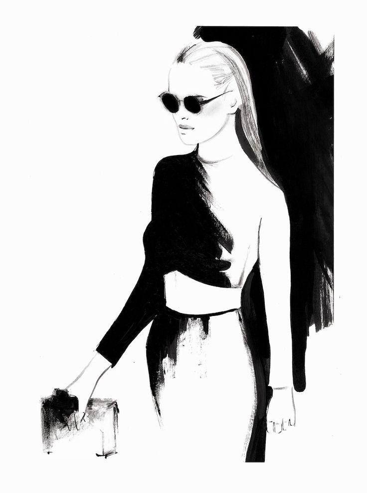 """The Smart Set"" inspiration: Ausländer Fashion Show Winter 2014 with Yasmin Brunet. By Kornelia Debosz"
