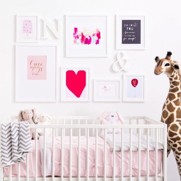 The Indigo #StyleYourWall Nursery wall gallery.
