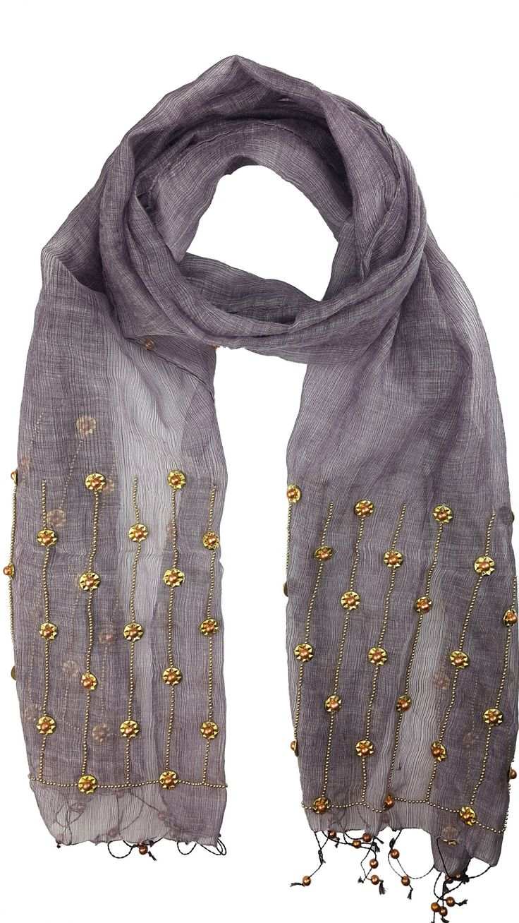 Oversized Merino Wool Scarf - Arches Blue and Gold by VIDA VIDA HA3Vi50